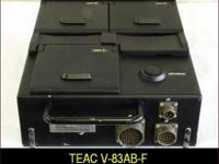 Teac V-83AB-F triple deck airborne data recorder for