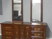 TEAK BEDROOM SUITE-- An exceptional value at $600. All