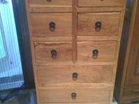 This is SOLID Teak Cabinet w/6 small drawers and 4