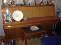beautiful teakwood samick upright piano high quality