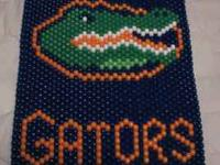 Hand crafted Sport Team beaded banners consisting of