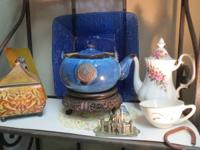 Variety of Estate Teapots, Teacups, Saucers  Lots of