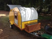 Custom Type (WOODY) Tear Drop Trailer. Lots of mahogany