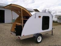 Newly built 4x8 teardrop. Mounted on 2000lb. GVW