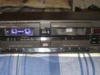 TECHNICS DUAL CASSETTE DECK, VERY GOOD CONDITION. HAS