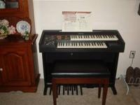Technics Electric Organ, Dbl keyboard, MIDI in and out,