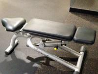 This used TechnoGym multi-functional bench can be used