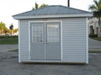 TED'S SHED USED 12' X 10' HIP STYLE METAL ROOF {Vinyl
