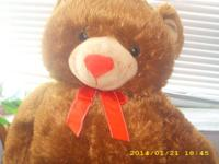 2 STYLES OF TOY BEARS , BEAR ONE IS 30 INCHES LONG WITH