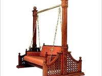 Teek wood swing new manufacture of wooden & wrought