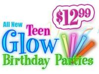 i have a certificate for a TEEN GLOW BIRTHDAY PARTY at