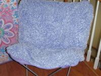 Purple Butterfly Chair from Rooms to Go. Sold for