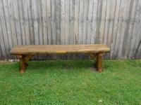 This Deacon's bench is in good condition; no wobbly