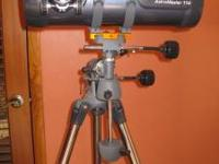 Like new Celestron AstroMaster 114 EQ, Model #31402,