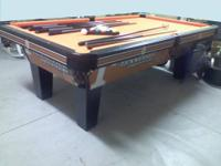 "The Tennessee Volunteers pool table is 8"" with the"