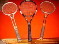FISCHER 102 , VINTAGE WILSON T3000,?-aluminum racket