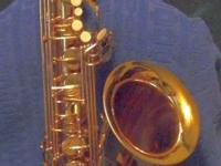 This is a really nice sax made by the woodwind and