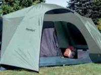 Eureka Tetragon Tent sleeps four or five. used only