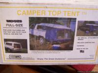 CAMPER TOP TENT FOR PICKUP TRUCK ....... NEVER USED