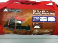 Ozark Trail 16x10 Family dome tent We have a 30 day