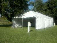 (1 REGULAR MOONWALK) (1 10X20 TENT ) ( 3 TABLES 24