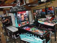 This is a nice Terminator 2 pinball machine that was