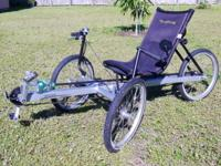Terra Trike - Rover - Three Speed recumbent trike.It