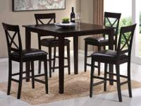 Terrace 5pc Counter Height Table * Made of hardwoods