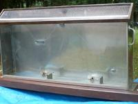 "Stainless Steel and 1/4"" Plate Glass case w/hinged"