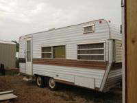 18 foot camp trailer that Sleeps 6. New tires. It has a