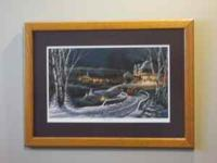 This is a very nice Terry Redlin print which is matted