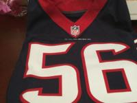 I have an autographed Brian Cushing # 56 Jersey that I