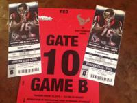 I have 2 tickets to the Texans vs 49ers game Thursday,
