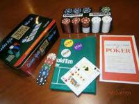 BRAND NEW, NEVER PLAYED CASINO STYLE TEXAS HOLD'EM