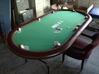 I am selling my texas hold 'em poker table. It is 7'