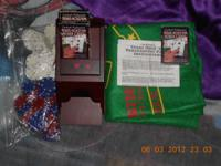 Texas Holdem Set/Poker Card dealer thing (Wooden) Three