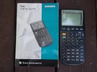 Good condition. Includes calculator, case, manual and