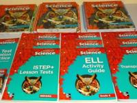 Up for sale is a large set of Science books for 6th
