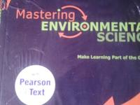 "For sale are BOTH the textbook ""Environment the science"