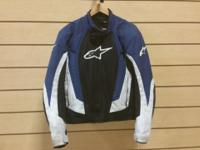 Used motorcycle jacket, has all pads and liner. Size