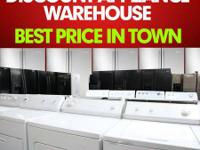 DISCOUNT APPLIANCE STOCKROOM.  OFFERING LARGE AMOUNTS