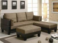 This sofa provides comfortable seating in addition to