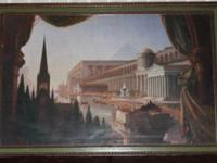 The Architect's Dream (Art with Wooden Frame) - $75
