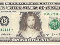This is a real mint one dollar bill with the picture of