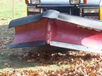 "7 ft 6 "" Boss V Plow Rapid Tach II, Good Condition,"