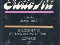 THE COMPLETE BOOK OF EROTIC ART - VOLUMES 1 AND 2.  A