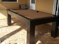 "The CONTEMPORARY"" 2 in 1 Pool & Dining Table in 7' Pool"
