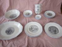 Here is a set of antique china dishware, made by