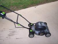 The Earthwise 20? electric lawn mower requires no gas,
