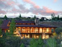 This stunning private custom mountain contemporary home